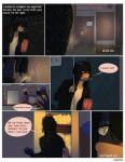 angellove44 anthro black_hair canine clothed clothing comic dog hair kale_(angellove44) long_hair male mammal raining signature solo text wet