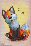 2011 ambiguous_gender canine cute eosfoxx feral fox mammal musical_note singing solo warm_colors whistlingRating: SafeScore: 56User: TonyLemurDate: August 06, 2011