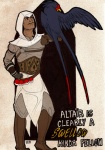 altaïr_ibn-la'ahad armor assassin assassin's_creed avian beak belt boots brown_skin clothed clothing crossover english_text feathered_wings feathers feral footwear fully_clothed gloves hand_on_hip hood human looking_at_another lupie_stardust male mammal medieval nintendo nude outline perched pokéball pokémon pokémon_(species) scar size_difference standing swellow text video_games wingsRating: SafeScore: 15User: LadyFuzztailDate: March 13, 2011