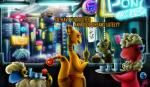 2017 alcohol ampharos arcade beer beverage blade_runner crossover digital_media_(artwork) digital_painting_(artwork) equine female flaafy flying_car friendship_is_magic horn horse james_corck mammal mareep my_little_pony nintendo parody pokémon pokémon_(species) pony raining restaurant unicorn video_games
