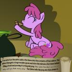 berry_punch_(mlp) bitterplaguerat earth_pony equine friendship_is_magic horse kettle mammal my_little_pony pony potion solo text