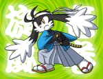 5_fingers anthro big_eyes black_fur cel_shading clothed clothing footwear frown fully_clothed fur headband holding_object holding_weapon japanese_clothing japanese_text klonoa klonoa_(series) legwear long_ears low_res male melee_weapon orange_eyes samurai sandals sheathed_weapon socks solo sword text toony unknown_artist unknown_species video_games weapon white_furRating: SafeScore: 2User: Rockman2kDate: November 11, 2009