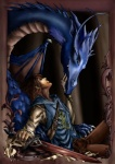 autumn_raindrop blue_scales brilcrist collaboration dragon duo eragon female feral human male mammal melee_weapon membranous_wings romantic_couple saphira scales scalie sword weapon western_dragon wingsRating: SafeScore: 5User: TauxieraDate: November 18, 2009