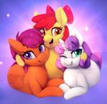 2018 animated apple_bloom_(mlp) collaboration cutie_mark_crusaders_(mlp) digital_media_(artwork) earth_pony equine feathered_wings feathers female feral friendship_is_magic group hair hair_bow hair_ribbon horn horse looking_at_viewer mammal mrscurlystyles multicolored_hair my_little_pony open_mouth pegasus pony red_hair ribbons rodrigues404 scootaloo_(mlp) smile sweetie_belle_(mlp) two_tone_hair unicorn wingsRating: SafeScore: 12User: lemongrabDate: April 17, 2018