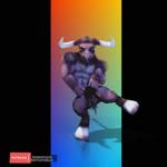3d_(artwork) animated anthro bovine digital_media_(artwork) fur hair horn kemonokun male mammal minotaur muscular nude simple_background soloRating: SafeScore: 0User: KemonokunDate: May 25, 2018
