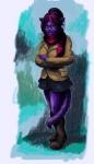 ashley_robin blue_eyes boots clothing crossed_arms feline female footwear fur hair hi_res jacket mammal purple_fur red_hair scarf skirt solo unknown_artistRating: SafeScore: 18User: AnimeserfDate: July 08, 2012
