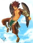 animal_humanoid athletic avian avian_humanoid bare_chest brown_eyes clothed clothing cloud cloudscape feathered_wings feathers feet flying footwear front_view full-length_portrait humanoid humanoid_feet kiske_7key loincloth looking_at_viewer male navel nipples outside plantigrade portrait pose sandals sky solo split_form winged_humanoid wingsRating: SafeScore: 1User: mscDate: May 15, 2010