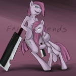 2013 blue_eyes crossgender cutie_mark dual_persona duo earth_pony english_text equine female friendship_is_magic fur hair hair_over_eye hi_res horse insanitylittlered knife long_hair looking_at_viewer male mammal my_little_pony pink_fur pink_hair pinkamena_(mlp) pinkie_pie_(mlp) pony square_crossover straight_hair text zanbato