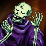 ambiguous_gender animated_skeleton bone clothed clothing eyes_closed just_right meme not_furry pacha_(the_emperor's_new_groove) reaction_image skeleton skull_servant solo teeth undead unknown_artist yu-gi-oh