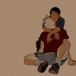 anthro canine clothing dog duo eyes_closed hug human looking_at_viewer male male/male mammal romantic_couple simple_background sitting sleeping wasp_(artist)Rating: SafeScore: 9User: slyroonDate: March 27, 2013