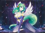 anthro breasts clothed clothing equine eyelashes fan_character feathered_wings feathers female fur green_eyes green_hair hair kneeling koveliana mammal my_little_pony pegasus white_feathers white_fur wide_hips wingsRating: SafeScore: 3User: MillcoreDate: May 28, 2017