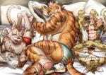 abs anthro biceps clothed clothing clouded_leopard feline male mammal muscular nekojishi tattoo tiger 熊八