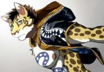 2018 abs anthro bearlovestiger13 clothing clouded_leopard feline fur hi_res hoodie leopard likulau male mammal muscular nekojishi nipples pecs spots tattoo