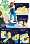 alphys animated_skeleton bed bone comic dialogue english_text eyewear fish glasses hand_holding hi_res humanoid humor lizard marine papyrus_(undertale) phone pillow plumfsh reptile sans_(undertale) scalie skeleton text undead undertale undyne video_games