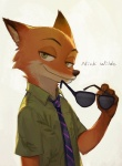 2016 8c_(artist) anthro canine digital_media_(artwork) disney duo eyewear fox fur green_eyes looking_at_viewer male mammal nick_wilde simple_background smile sunglasses text zootopia