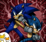 """2011 =_="""" abstract_background angry anthro blood blue_fur canine digital_media_(artwork) fight fox fur green_eyes group hedgehog hi_res male mammal miles_prower simple_background sonic_(series) sonic_the_hedgehog square_crossover sssonic2 sweat sweatdropRating: SafeScore: 11User: HiatussDate: February 15, 2012"""