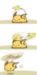 :3 beady_eyes cute female flying fur helicopter_tail lying mammal nintendo on_front orange_fur pokémon raichu rairai-no26-chu rodent shadow simple_background smile solo stripes video_games what white_background