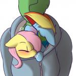 2016 anon blue_fur blush captainpudgemuffin clothed clothing cute equine female fluttershy_(mlp) friendship_is_magic fur group hair hoodie horse human mammal multicolored_hair my_little_pony pink_hair pony rainbow_dash_(mlp) rainbow_hair simple_background sleeping sweater yellow_furRating: SafeScore: 32User: LuftelukeDate: December 16, 2016