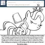 bitterplaguerat black_and_white book crown dialogue diamond_tiara_(mlp) earth_pony english_text equine friendship_is_magic horse mammal monochrome my_little_pony pony sleeping textRating: SafeScore: 1User: Aryanne_HooflerDate: August 17, 2017