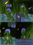 blue_hair comic english_text fatchaos forked_tongue glowing glowing_eyes green_skin hair hunting_a_hydra lizard male melee_weapon polearm reptile scalie spear text tongue tribal_armor water weaponRating: SafeScore: 5User: EmperorLelouchDate: October 29, 2011