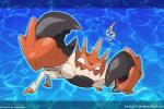 ambiguous_gender arthropod crab crustacean english_text fakémon kingler marine mega_evolution nintendo pokémon solo text tomycase video_games