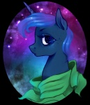 arakay equine female feral freckles friendship_is_magic hair horn looking_at_viewer mammal my_little_pony portrait princess_luna_(mlp) royalty solo star unicorn