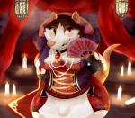2018 anthro apron armello breasts candle clothed clothing female griotte_(armello) jewelry keppo_(artist) makeup mammal necklace pocket rat rodent solo