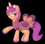 ! 2017 alpha_channel costume cub equine eyebrows eyelashes female friendship_is_magic frown hair looking_at_viewer lulubellct mammal my_little_pony pegasus purple_eyes purple_hair scootaloo_(mlp) simple_background solo solo_focus text transparent_background wings young