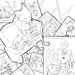 2018 anthro black_and_white bonnie_hopps canine clothed clothing cub disney duo_focus eyewear faceless female fox glasses group hat holding_object judy_hopps lagomorph lying male mammal monochrome necktie nick_wilde on_side overalls photo rabbit replytoanons sitting sofa stu_hopps violet_hopps_(zootopia) young zootopiaRating: SafeScore: 2User: JAKXXX3Date: March 25, 2018