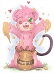 <3 bear chest_tuft cubbi disney ende food fur green_eyes gummi_bears honey male mammal one_eye_closed pink_fur solo tuft winkRating: SafeScore: 2User: Kitsu~Date: August 07, 2009