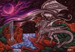 ambiguous_gender claws detailed_background dragon feral hair horn membranous_wings moon selianth shiryu_akai sky solo standing star starry_sky water waterfall wingsRating: SafeScore: 4User: MillcoreDate: March 31, 2017