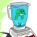amphibian blender_(object) frog looking_at_viewer male meme pepe_the_frog simple_background solo unknown_artist