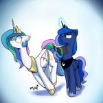 animated anticularpony duo equine feral friendship_is_magic horn mammal my_little_pony princess_celestia_(mlp) princess_luna_(mlp) winged_unicorn wingsRating: SafeScore: 0User: Wumbl3Date: January 22, 2017