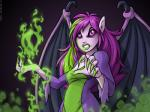 2005 breasts clothed clothing digital_media_(artwork) faerie_(neopets) female green_hair green_lips hair humanoid looking_at_viewer membranous_wings multicolored_hair neopets official_art purple_eyes purple_hair purple_sclera purple_skin purple_wings simple_background solo wingsRating: SafeScore: 1User: concerned-neopianDate: April 22, 2018