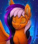 animated black_hair blinking blue_eyes ear_piercing equine female feral fur hair mammal my_little_pony no_sound orange_fur pegasus piercing purple_hair rodrigues404 smile solo white_hair wingsRating: SafeScore: 5User: MillcoreDate: May 01, 2017