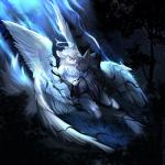 2018 5_fingers angiewolf anthro canine detailed_background digital_media_(artwork) duo feathered_wings feathers fur hair hybrid male mammal night nude outside sky star starry_sky tree white_feathers white_fur white_hair wings wolfRating: SafeScore: 5User: MillcoreDate: May 23, 2018