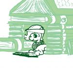 bandanna book cub earth_pony emerald_jewel(colt_quest) equine fan_character feral ficficponyfic hat horse male mammal my_little_pony pony reading solo stack young