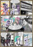 2016 anon blue_hair clothed clothing comic cutie_mark dialogue dragon earth_pony english_text equine fan_character feathered_wings feathers female feral fluttershy_(mlp) friendship_is_magic frown fur green_eyes hair hi_res horn horse human hybrid inside limestone_pie_(mlp) mammal mascara_(oc) maud_pie_(mlp) monochrome multicolored_hair my_little_pony pegasus pencils_(artist) pink_fur pinkie_pie_(mlp) pony princess_celestia_(mlp) purple_eyes purple_fur purple_hair red_eyes satyr smile spike_(mlp) text twilight_sparkle_(mlp) winged_unicorn wings
