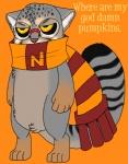 ambiguous_gender cat catskull eyewear feline glasses mammal pallas's_cat scarf silly solo stripe vonderdevilRating: SafeScore: 1User: VonderDate: October 31, 2012