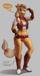 anthro applejack_(mlp) clothed clothing diadorin equine female friendship_is_magic gloves hat horse looking_at_viewer mammal my_little_pony smile solo standing