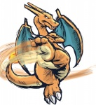 2016 3_toes black_eyes charizard claws digital_drawing_(artwork) digital_media_(artwork) dragon fangs featureless_crotch feral fire flaming_tail full-length_portrait horn kick male membranous_wings multicolored_scales naturally_censored nintendo orange_horn orange_scales orange_tail plantigrade pokémon pokémon_(species) portrait runde scales scalie simple_background soles solo toe_claws toes two_tone_scales two_tone_tail video_games white_background wings yellow_scales yellow_tailRating: SafeScore: 6User: Cash_BanoocaDate: November 18, 2016