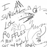 ambiguous_gender anthro black_and_white humor mammal monochrome sergal simple_background solo unknown_artist what white_backgroundRating: SafeScore: -2User: LoyalMastersDate: July 02, 2010