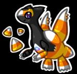 alternate_color ambiguous_gender candy_corn cute dragon fan_character feral food_creature halloween hi_res holidays latias legendary_pokémon nintendo pokémon pokémon_(species) purple_eyes rawchomp scalie smile solo video_games what why