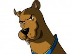 big_nose black_nose brown_fur canine collar comic dog edit feral fur great_dane male mammal omg-breasteses rape_face scooby-doo scooby-doo_(series) serious_business simple_background solo white_background