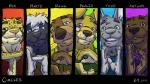 16:9 2014 arthur_corski bear canine cheetah circles_(comic) clothing dog douglas_pope feline group k-9 kangaroo ken_brassai male mammal marsupial martin_miller mustelid otter paul_mayhew skunk taylor_dooley