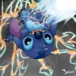 2017 4_fingers 4_toes abstract_background action_pose alien backflip blue_claws blue_eyes blue_fur blue_nose blue_pawpads claws determined digital_drawing_(artwork) digital_media_(artwork) disney energy experiment_(species) fur head_tuft hi_res jewelpetgarnet lilo_and_stitch looking_at_viewer notched_ear open_mouth open_smile pawpads pose signature smile solo stitch toes tuft upside_downRating: SafeScore: 3User: BooruHitomiDate: January 18, 2018