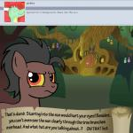 animated bitterplaguerat building bush earth_pony equine forest horse house loki_(bitterplaguerat) mammal my_little_pony pony potion solo text tree yellow_eyes