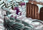 blush detailed_background dragon drayke feathers feral fluffy fur horn male nainporteki open_mouth outside scalie skellio snow snowing tree wings winterRating: SafeScore: 3User: swixDate: January 19, 2018