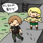 ashley_graham capcom duo fish human humor japanese_text leon male mammal marine not_furry re4 resident_evil text unknown_artist video_gamesRating: SafeScore: 3User: WraywolfeDate: April 04, 2009