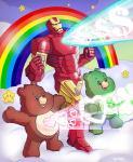<3 ambiguous_gender anthro bear care_bears good_luck_bear group iron_man laser machine male mammal marco_d'alfonso marvel pose power_armor rainbow rainbow_arch star star_buddy tenderheart_bear tummy_symbolRating: SafeScore: 40User: slyroonDate: April 19, 2015